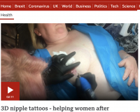 BBC Documentary on 3D Nipple Tattoos
